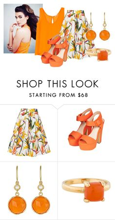 """""""Sunny Day"""" by magical-muse ❤ liked on Polyvore featuring Karen Millen, Topshop, Irene Neuwirth and Tiffany & Co."""