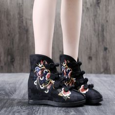 Strap Heels, Wedge Heels, Japanese Uniform, Short Ankle Boots, Boho Shoes, Asian Street Style, Fall Booties, Fancy Costumes, Boot Types