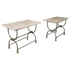 Pair of French Butcher Tables