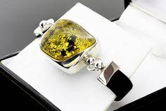 Green Amber Silver Bracelet Amber Bracelet Amber Gemstone Amber Ring, Amber Bracelet, Amber Jewelry, Stone Bracelet, Stone Earrings, Stone Necklace, Jewelry Bracelets, Silver Pendants, Stone Pendants