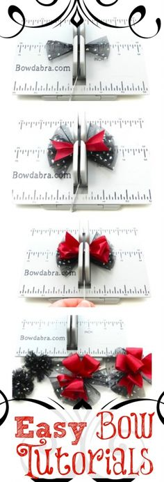Easy Bow Tutorial on Bowdabra #bows #howdoImakeabow #hairbows