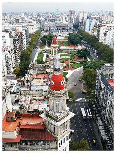 Argentina. buenos Aires. Congreso de la Nación, Avenida de Mayo
