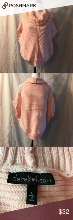 Derek Heart Sweater W/Doleman Sleeves, Size Large This sweater is brand new. It is 100% acrylic and a hand wash only item. It does have a cowl neck. Derek Heart Sweaters Cowl & Turtlenecks