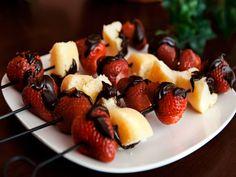 Strawberry shortcake kebobs