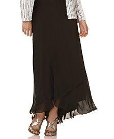 Alex Evenings Skirt, Long Tiered