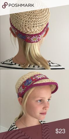 Anthro Hat! This Anthropoligie cap is so adorable and perfect for when the summers get breezy! Anthropologie Accessories Hats