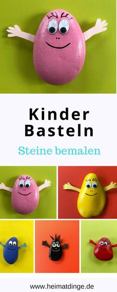 Steine bemalen mit Kindern - viele bezaubernde Motive - Paint stones is easy and you can make the most amazing creations out of it. A great craft idea for children in the kindergarten, elementary scho Easy Crafts, Diy And Crafts, Summer Crafts, Wood Crafts, Holiday Break, Bude, Business Gifts, Simple Gifts, Easy Paintings