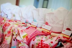 Baking Birthday Party Apron Chef Hat Package by thfabricate, ... SO want this for Oakley's next birthday party!