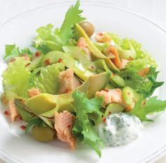 Mediterranean Smoked Trout with Minted Yogurt Sauce Appetizer