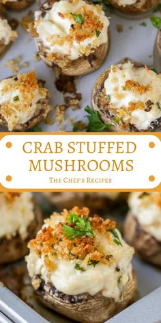 67 Ideas seafood party ideas finger foods stuffed mushrooms for 2019 Yummy Appetizers, Appetizers For Party, Appetizer Recipes, Seafood Appetizers, Appetizer Dips, Crab Stuffed Mushrooms, Stuffed Mushroom Recipes, Portabello Mushrooms, Meal Prep Plans