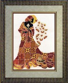 Gallery.ru / Фото #1 - Africanka s motylmi - zuzas