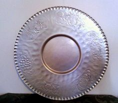 Vintage MidCentury Harvest Designed HandWrought Serving Platter by cappelloscreations, $12.00@Etsy use XOMOM10 at checkout for 10%off. In honor of my Mom who just passed away!