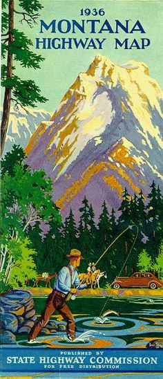 Best Of AmericanTowns delivers the most interesting and unique places in America right to your fingertips. Browse the best places to eat, live, and visit. Montana Lakes, Big Sky Montana, Darby Montana, Poster Vintage, Vintage Travel Posters, Tarzan, Big Sky Country, Fly Fishing, Fishing Trips