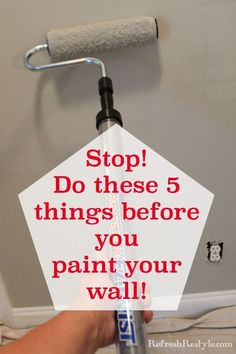 5 tips for a more professional look! How to repair a wall and paint it. refreshrestyle.com
