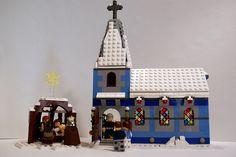 lego church | LEGO Winter Village Church and Nativity Scene | Flickr - Photo Sharing ...