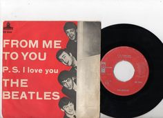 BEATLES 7 PS From Me To You Sweden red label SD 5944 Swedish 45 rare!