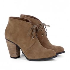 suede oxford booties
