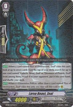 Vanguard cards inspiration, I like the artwork because hes shown as a alien and gives off that feeling