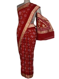 Bandhej Sarees from Gujarat starting at Rs.1299 or $21 Only. Shop Now > http://www.shopatplaces.com/apparel/sarees?location_id=14?sap_source=pin  To place the order on phone, call us at +91-11-29916572 or whatsapp us at +91-8130934999 #Saree #Sarees #Shopping #BuyBandhejSareesOnline #BuyBandhejSarees #New #GujaratiSaree #PurchaseSarees #CottonSarees