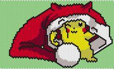 Christmas Pikachu From Pokemon by Maninthebook on Kandi Patterns