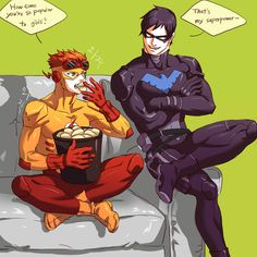 kid flash & nightwing