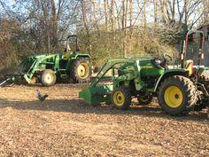 His and Hers John Deere Tractors