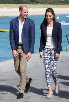 Prince William, Duke of Cambridge and Catherine, Duchess of Cambridge visit the Island of St Martin's in the Scilly Isles on September 2, 2016 in St Martins, England.