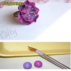Polymer Clay Flower Tutorial - No Author information given
