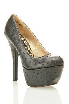 Dollhouse  Opulent Platform Pumps In Black