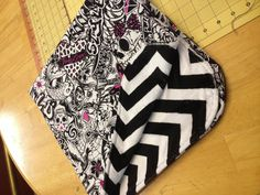 """Tattoo Art and Chevron minky baby blanket. 31""""x31"""" - Made exclusively for #UniqueLA @Unique Quiambao USA / Sonja Rasula by @Destiny Desselle Boutique #bugaroo #babycouture #handmade"""