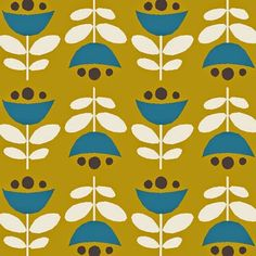simple and pretty Design Textile, Design Floral, Textile Patterns, Fabric Design, Textiles, Retro Pattern, Pattern Art, Vintage Design, Retro Design