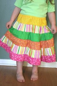 Tiered Twirl Skirt tutorial--very detailed...must try!!
