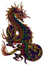 Carnival Chinese Dragon Embroidery design - Machine Embroidery Designs