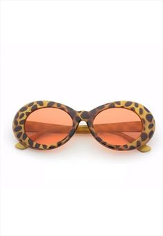 fb500f9b49 BLACK LEOPARD OVAL KURT COBAIN SUNGLASSES Oval Sunglasses