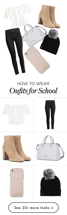 """""""high school girl"""" by madsdad-gl on Polyvore featuring Valentino, Yves Saint Laurent and UGG"""