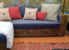 wooden couch trim