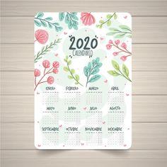 Lovely 2019 calendar template with floral style Free Vector Calendar 2019 Design, Calendar 2019 Printable, New Year Calendar, Calendar Layout, Free Printable Calendar, Calendar Pages, Printable Planner, Advent Calendar, Estilo Floral