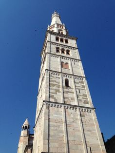 #Ghirlandina #Modena #Italy the tower rises with its beauty in the blue sky of a summer morning