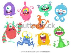 Find Cute Cartoon Monsters Set Cartoon Monsters stock images in HD and millions of other royalty-free stock photos, illustrations and vectors in the Shutterstock collection. Thousands of new, high-quality pictures added every day. Cartoon Monsters, Monster Design, Halloween Design, Goblin, Cute Cartoon, Troll, Royalty Free Stock Photos, Doodles, Creatures