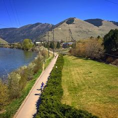 Walking the riverfront trails in Missoula, Montana