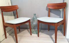 Vintage Stühle - 2 Stühle Teak Mint /Türkis von CASALA *Mid Century - ein Designerstück von Mid-Century-Frankfurt bei DaWanda