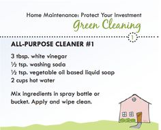 Green Cleaning Recipe for All-purpose cleaner