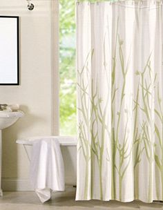 100Percent Cotton Shower Curtain Charcoal Gray Off White Ash Grey