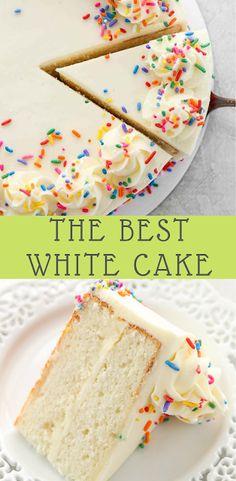 The Best White Cake Recipe #whitecakerecipes #cakerecipes #yummycakes