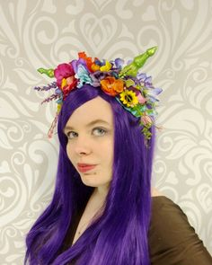 Cosplay Satyr Headdress Dragon Princess by RuthNoreDesigns on Etsy