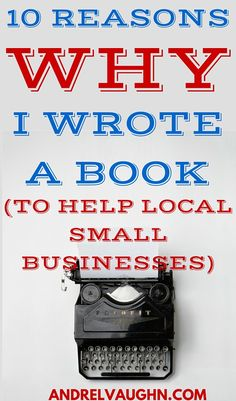 See why I wrote a book about social media marketing strategies to help local small business entrepreneurs.  'Social Media Simple Marketing' gives simple tips and strategies for any small business owner to implement in their business.  I give '10 Reasons WHY I Wrote A Book' and go into my journey as a local small business owner and ways that I can help them understand how 'emerging' marketing is utilized for the benefit and the long term growth of local small businesses.
