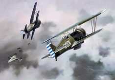 First China Ace, by Roy Grinnell (Curtiss Hawk III)