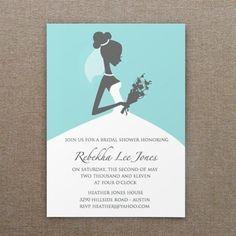 Bridal Shower Invitation Template - Bride Silhouette Design