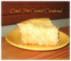 Crock-Pot Coconut Cornbread -Crockpotladies.com