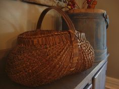 Early tightly woven buttocks basket